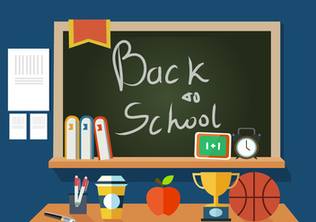 Free Back to School Vector Illustration - Free vector #379185