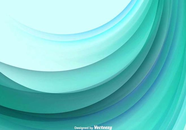 Color Abstract Wave Vector Background - Free vector #379195