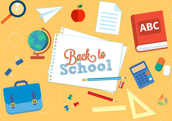 Free Back to School Vector Illustration - Free vector #379205