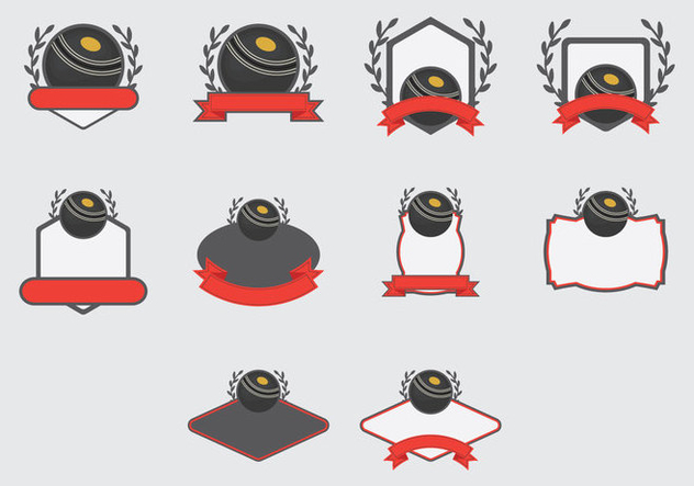 lawn bowls template arcade icon set free vector download 379225