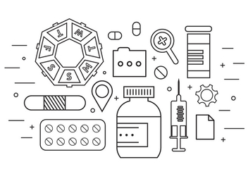 Medicine Icons in Vector - Free vector #379325