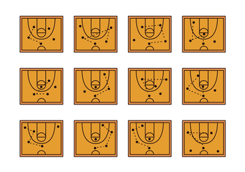 Basket Ball Playbook Icon - vector gratuit #379335