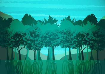 Mangrove Illustration Vector - Free vector #379455