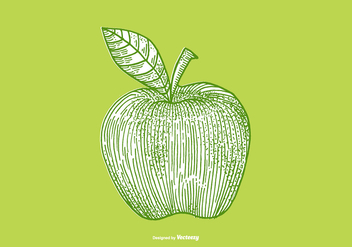 APPLE - LINE DRAWING - vector gratuit #379495