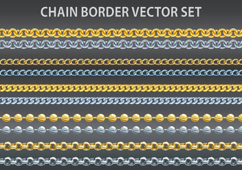 Chain border vector set - Free vector #379505