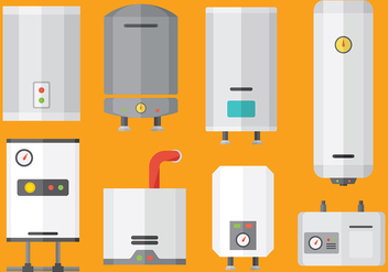 Free heater icons vector - бесплатный vector #379515