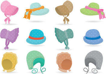 Colorful Bonnets - vector gratuit #379575