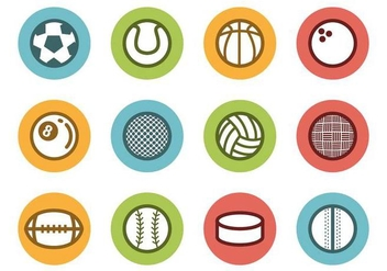 Free Sports Ball Icons Vector - vector gratuit #379625