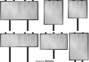 Set Of Outdoor Isolated Vector Billboards - Free vector #379675