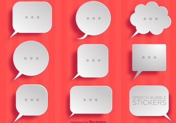 Vector Collection Of Simple Paper Speech Bubbles - vector #379685 gratis