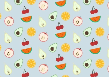 Fruits Mix Pattern - vector gratuit #379725