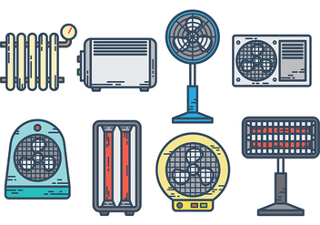 Free heater icons vector - бесплатный vector #379775
