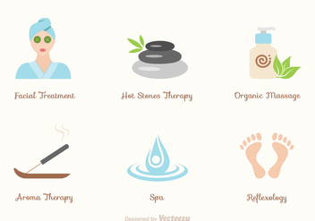 Free Spa And Wellness Vector Icons - vector gratuit #379785