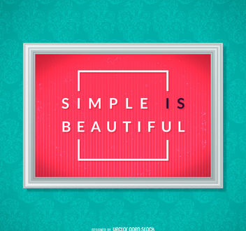 Simple is beautiful poster - Free vector #379805