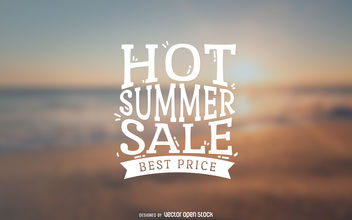 Summer sale label - vector gratuit #379815