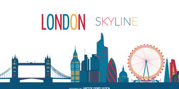 London city skyline - vector gratuit #379895