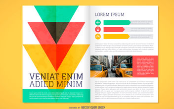 Colorful brochure mockup - vector gratuit #380055