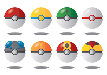 Free Pokemon Icons Vector - vector gratuit #380105