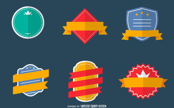 Flat label set - Free vector #380125