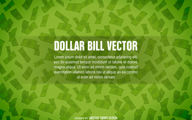 fundo de Dollar bill - Free vector #380145