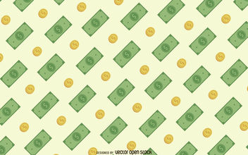 Money seamless pattern - vector gratuit #380155