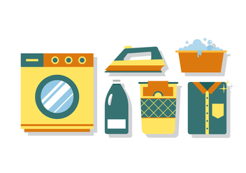 Vector Laundry Elements - Free vector #380385