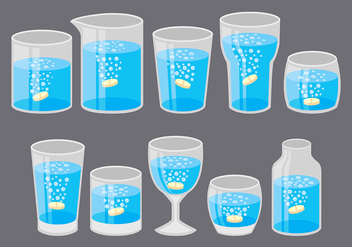 Effervescent Cup Icons - Free vector #380425