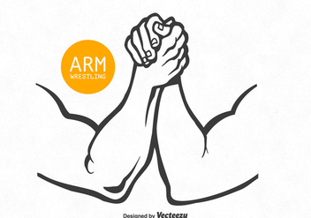 Free Vector Arm Wrestling - vector gratuit #380435