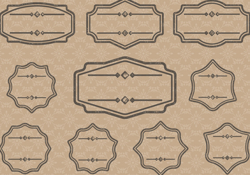 Vintage Label Cartouches - Free vector #380445