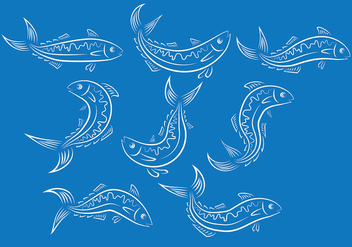 Mackerel Fish Vector Ions - vector #380535 gratis