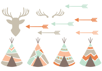 Native American Vector Icons - vector #380545 gratis