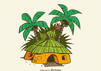 Free Jungle Shack Vector Illustration - vector gratuit #380675
