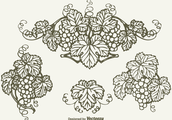 Free Drawn Bunch Of Grapes Vector Design - vector gratuit #380685