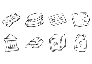 Free Hand Drawing Bussines Icon - Free vector #380715