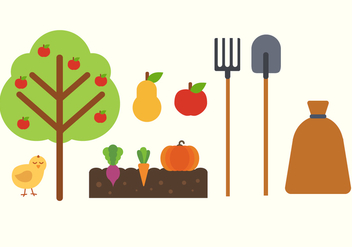 Free Farm Elements Vector - Free vector #380735
