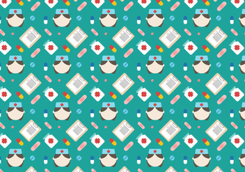 Free Nurse Vector Pattern - бесплатный vector #380835