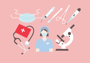 Nurse Equipment Vector - Free vector #380845