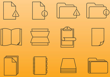 Paper Document Icons - vector gratuit #380875