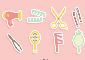 Hair Accessories Vector Set - Kostenloses vector #380885