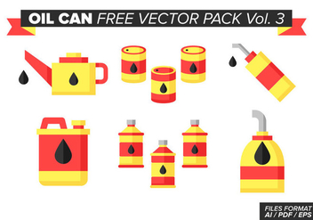 Oil Can Free Vector Pack Vol. 3 - Kostenloses vector #380925