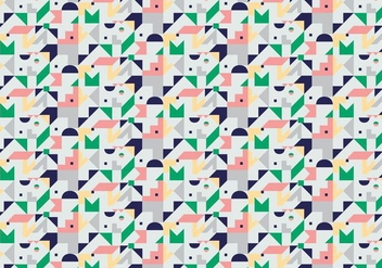 Abstract Geometric Pattern Background - vector gratuit #380935