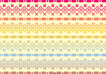 Incas Raibow Pattern - Free vector #380965