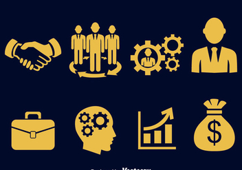Business Icons Vector - бесплатный vector #380985