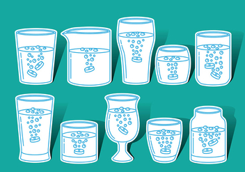 Effervescent Glass Vector Icons - vector gratuit #381065