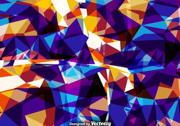 Vector Abstract Background With Colorful Polygons - Free vector #381315