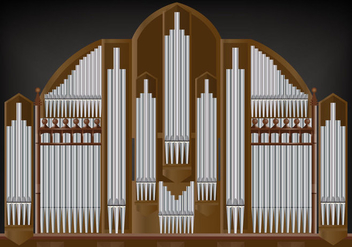 Pipe Organ Vector - Free vector #381395