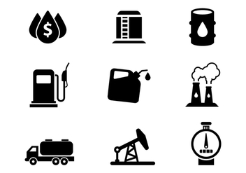 Free Oil Icons Set Vector - Free vector #381465