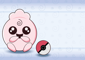 Pokemon Pink Monster - vector gratuit #381485