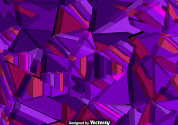 Vector Abstract Background With 3d Purple Polygons - vector gratuit #381535