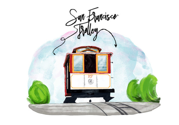 Free San Francisco Trolley Vector - vector gratuit #381655